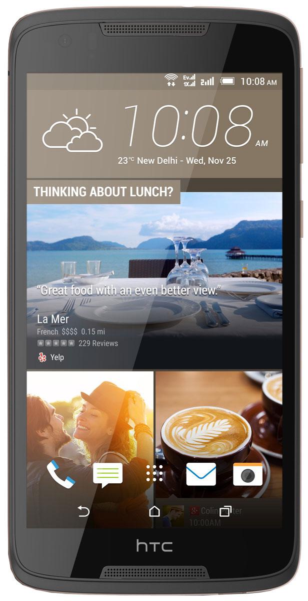 HTC Desire 828, Dark GrayHTC-99HAFV034-00Четкость без смазанностей, эффективные инструменты редактирования - HTC Desire 828 предлагает функционал, характерный, как правило, для флагманских устройств. Знакомьтесь, надежный помощник любителей мобильной фотографии.Передовая система оптической стабилизации изображения (OIS) оснащена линзами, способными компенсировать возможное дрожание устройства во время съемки. Камера отслеживает смещение с интервалом всего в 0,125 миллисекунды и сдвигает линзы, рефокусируясь в режиме реального времени, что дает возможность минимизировать смазанность фотографий.Премиальная система оптической стабилизации на HTC Desire 828 обеспечивает профессиональное качество фотографий: с меньшим количеством шумов и большей детализацией даже в условиях недостаточной освещенности.Лучшие селфи - вот что вас ждет! 4 миллиона чувствительных элементов фронтальной камеры HTC UltraPixel захватывают больше света, чем стандартные пиксели, а соответственно, обеспечивают более детализированную картинку в ситуациях с практически любым освещением. Широкоугольный объектив с приведенным фокусным расстоянием 26 мм позволит уместить в кадре еще больше улыбок друзей, еще больше деталей фона, а значит еще больше воспоминаний. Full HD экран с диагональю 5,5 дюйма обеспечивает неимоверно детализированное воспроизведение графики и картинки. C HTC BoomSound с Dolby Audio вы услышишь объемный многоканальный звук. Фильмы, игры и видео звучат потрясающе как через встроенные динамики, так и в наушниках. Эпичный звук, который нужно услышать! Динамический эквалайзер, в зависимости от выбранной громкости, обеспечивает оптимальное воспроизведение - больше не нужно вручную подстраивать звук, чтобы добиться четкости.На HTC Desire 828 доступен контекстно-зависимый домашний экран HTC Sense Home: специальный виджет автоматически определит местоположение пользователя и предложит приложения, исходя из его локации и личных настроек. Оформляйте рабочие экраны смартфона по-своему. Использу