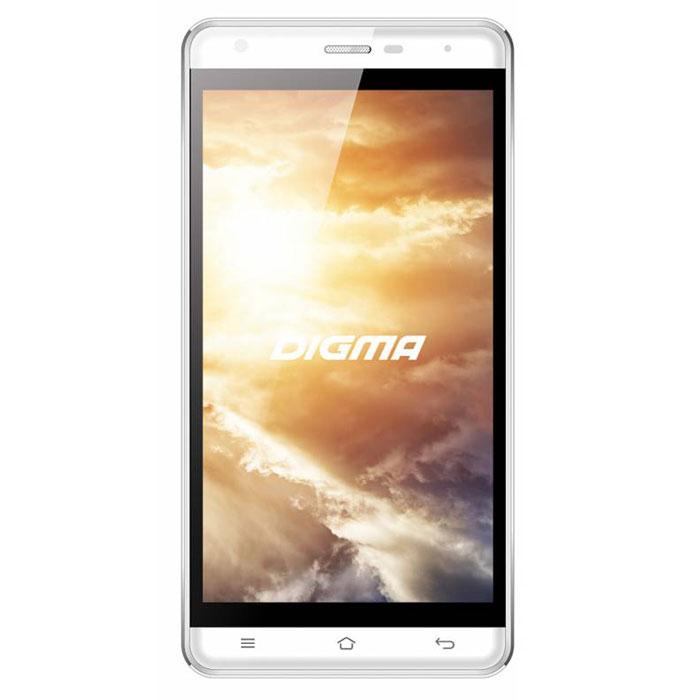 Digma Vox S501 3G, WhiteVS5002PGСмартфон Digma Vox S501 3G - компактная модель с 5-дюймовым сенсорным экраном и небольшими размерами, которые дают возможность управления функциями устройства одной рукой и помогают потреблять совсем небольшое количество энергии. Заряда батареи смартфона хватает примерно для 9 часов разговора или 15 дней работы в режиме ожидания.Встроенный высокосортной передатчик Wi-Fi позволяет вам быстро установить соединение с точкой доступа. Две SIM-карты дают возможность сочетать наиболее выгодные тарифные планы для голосового общения или мобильного интернета. Современный четырехъядерный процессор легко справляется с работой в режиме многозадачности.Смартфон Digma Vox S501 3G оснащен двумя камерами: основная 8-мегапиксельная со светодиодной вспышкой поможет вам получить четкие снимки даже при слабом освещении. Фронтальная камера с разрешением 2 мегапикселя позволит делать звонки по видеосвязи.Функция GPS без труда определит местоположение пользователя, поможет построить маршрут или отметить интересующую вас точку на местности. Телефон сертифицирован EAC и имеет русифицированную клавиатуру, меню и Руководство пользователя.
