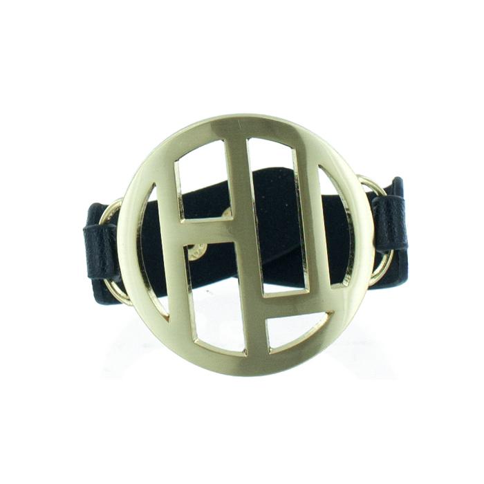 Браслет женский Taya, цвет: золотой, черный. T-B-5488-BRAC-GL.BLACKБраслет с подвескамиМодный браслет дополнит повседневный и праздничный образ, подчеркнув достоинства женской ручки.