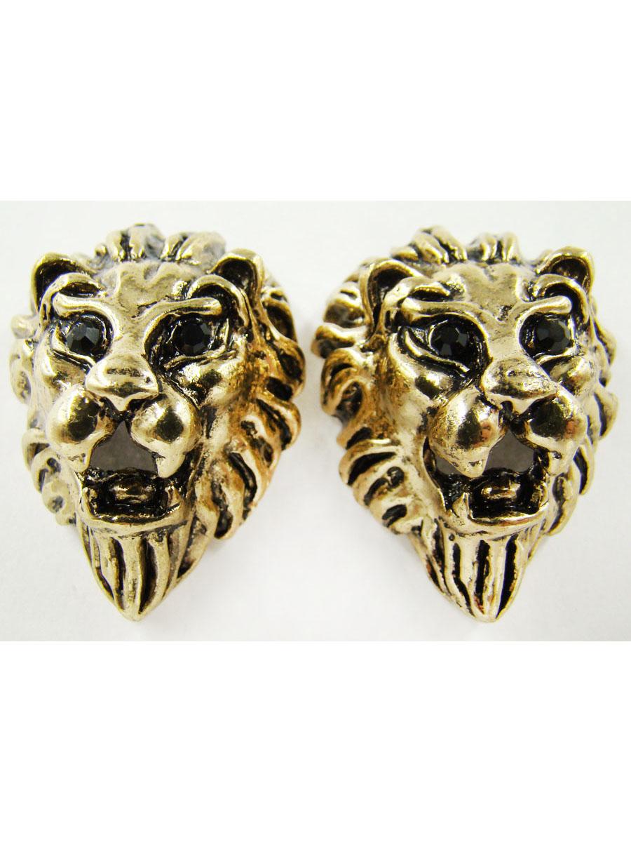 Серьги Taya, цвет: золотой. T-B-9778-EARR-GOLDПуссеты (гвоздики)Серьги-гвоздики с заглушкой из металла изготовлены из гипоаллергенного бижутерного сплава. Серьги выполнены в виде головы льва.