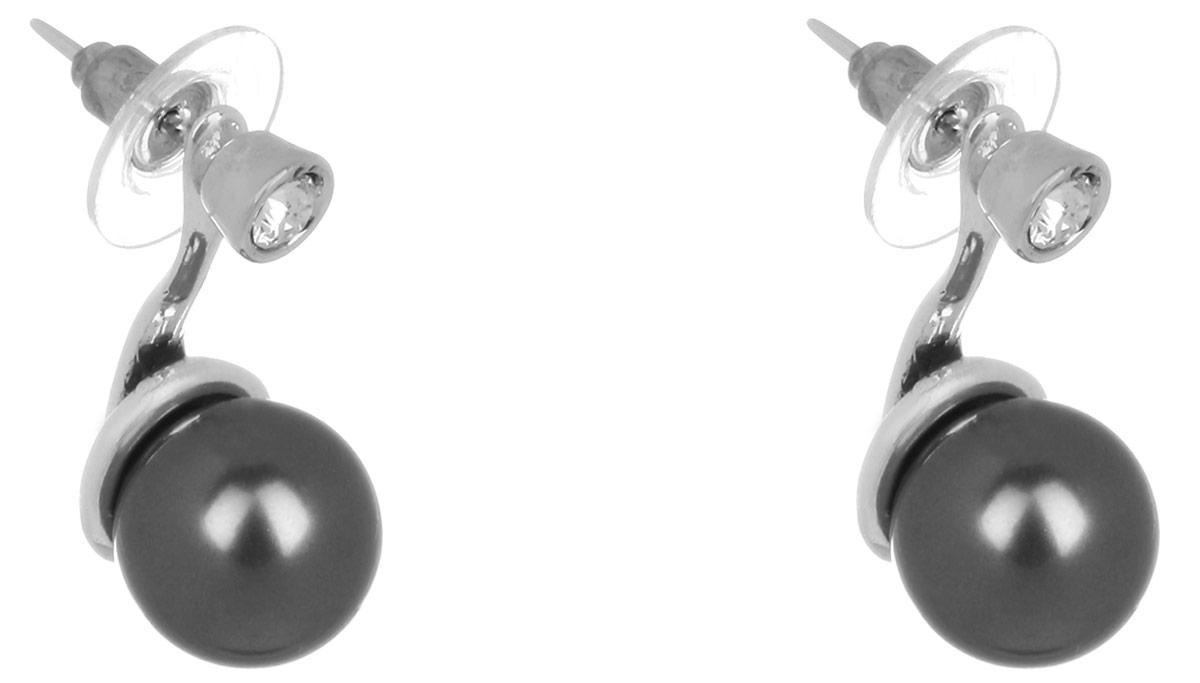 Серьги-пуссеты Jenavi Триада. Эпасэ, цвет: серебряный, черный. f69338h6Пуссеты (гвоздики)Великолепные серьги-пуссеты Jenavi Триада. Эпасэ не оставят равнодушной ни одну любительницу изысканных и необычных украшений. Изделие, изготовленное из гипоаллергенного материала, выполнено из металла с покрытием из черненого серебра и дополнено жемчугом Swarowski. Удобная застежка-гвоздик с пластиковой задвижкой обеспечивает надежное удержание серьги.
