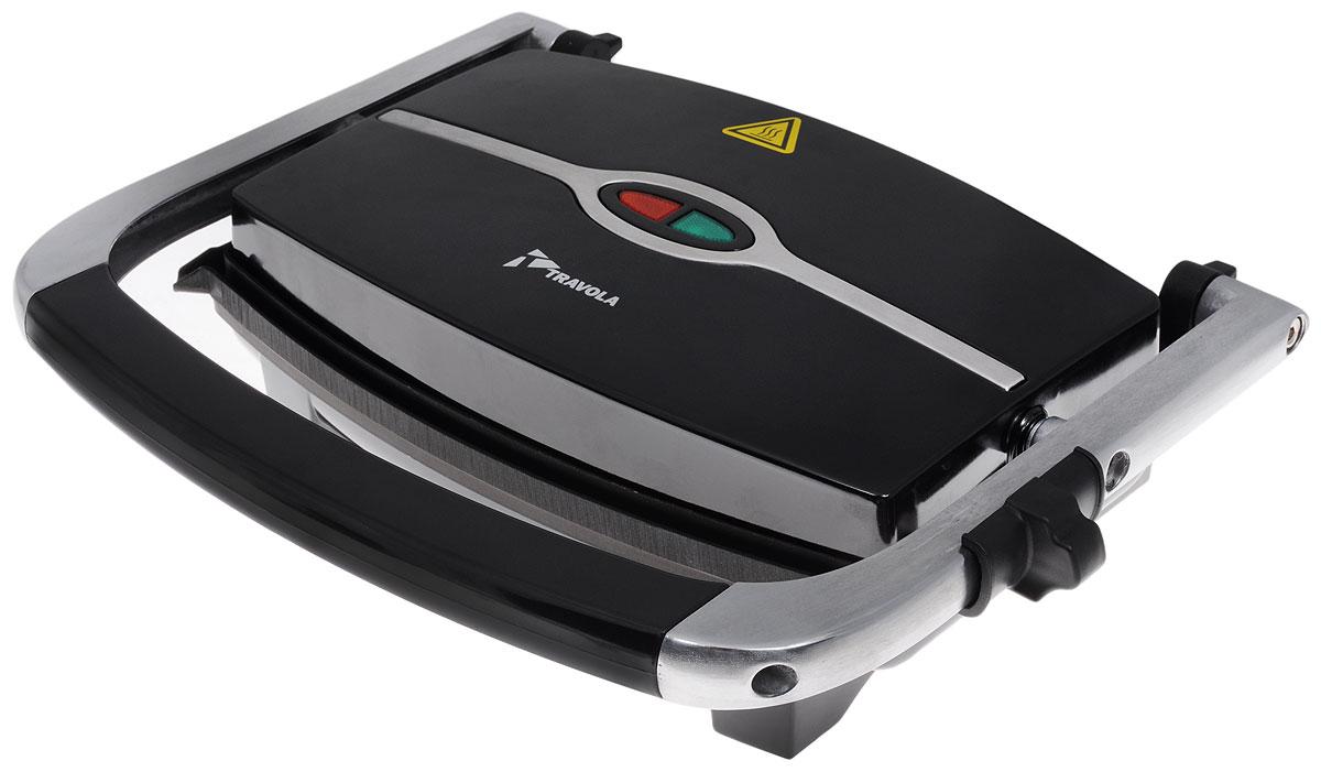 Travola SP-01 контактный грильSP-01Электрогриль Travola SP-01 предназначен для обжаривания продуктов и приготовления горячих бутербродов. Прибор оснащен индикатором готовности и питания. Антипригарное покрытие пластин обеспечивает их быструю и легкую чистку. Гриль имеет компактные размеры, поэтому его удобно хранить и брать с собой на дачу или в поездки.Световой индикатор работыМесто для хранения шнура питания * Победитель номинации «Лучшая собственная торговая марка в сегменте ONLINE»Премия PRIVATE LABEL AWARDS (by IPLS) —международная премия в области собственных торговых марок, созданная компанией Reed Exhibitions в рамках выставки «Собственная Торговая Марка» (IPLS) 2016 с целью поощрения розничных сетей, а также производителей продовольственных и непродовольственных товаров за их вклад в развитие качественных товаров private label, которые способствуют росту уровня покупательского доверия в России и СНГ.
