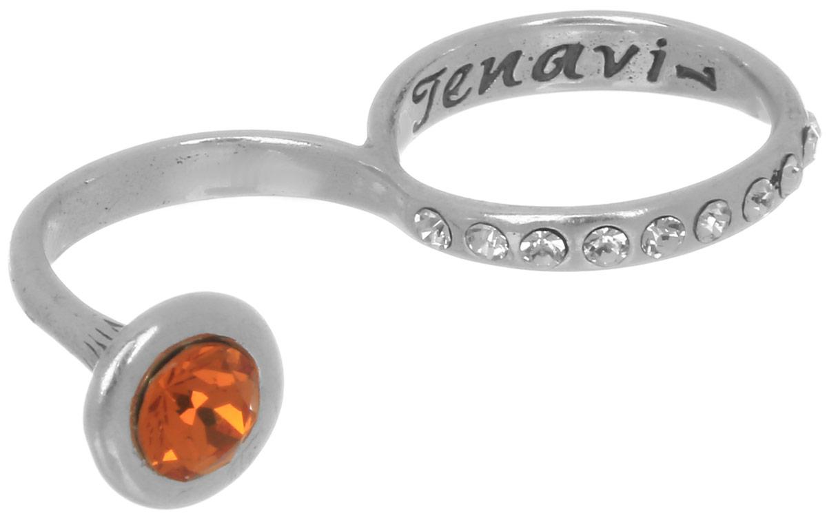 Кольцо Jenavi Триада. Тридеви, цвет: серебряный, оранжевый. f6923021. Размер 18Коктейльное кольцоИзящное кольцо Jenavi из коллекции Триада. Тридеви изготовлено из ювелирного сплава с покрытием из черненого серебра. Изделие выполнено в необычном дизайне и дополнено вставками из кристаллов Swarovski. Стильное кольцо придаст вашему образу изюминку, подчеркнет индивидуальность.