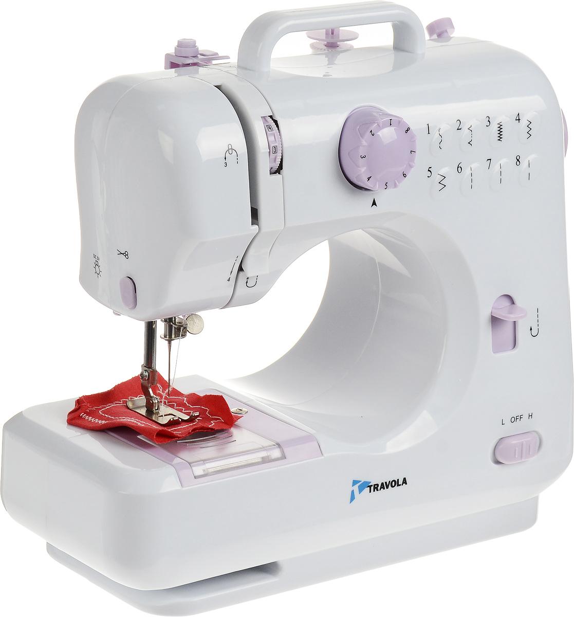 Travola 505 швейная машина505Швейная машина Travola 505 идеально подходит для выполнения основных швейных операций при изготовлении и ремонте одежды. Эта надежная машина имеет традиционный набор функций, который необходим для шитья. Устройство может выполнять 8 вариантов типа шва, из них 3 прямых, 3 зигзагообразных и 2 потайных. Данная модель проста в установке, настройке и эксплуатации. * Победитель номинации «Лучшая собственная торговая марка в сегменте ONLINE»Премия PRIVATE LABEL AWARDS (by IPLS) —международная премия в области собственных торговых марок, созданная компанией Reed Exhibitions в рамках выставки «Собственная Торговая Марка» (IPLS) 2016 с целью поощрения розничных сетей, а также производителей продовольственных и непродовольственных товаров за их вклад в развитие качественных товаров private label, которые способствуют росту уровня покупательского доверия в России и СНГ.