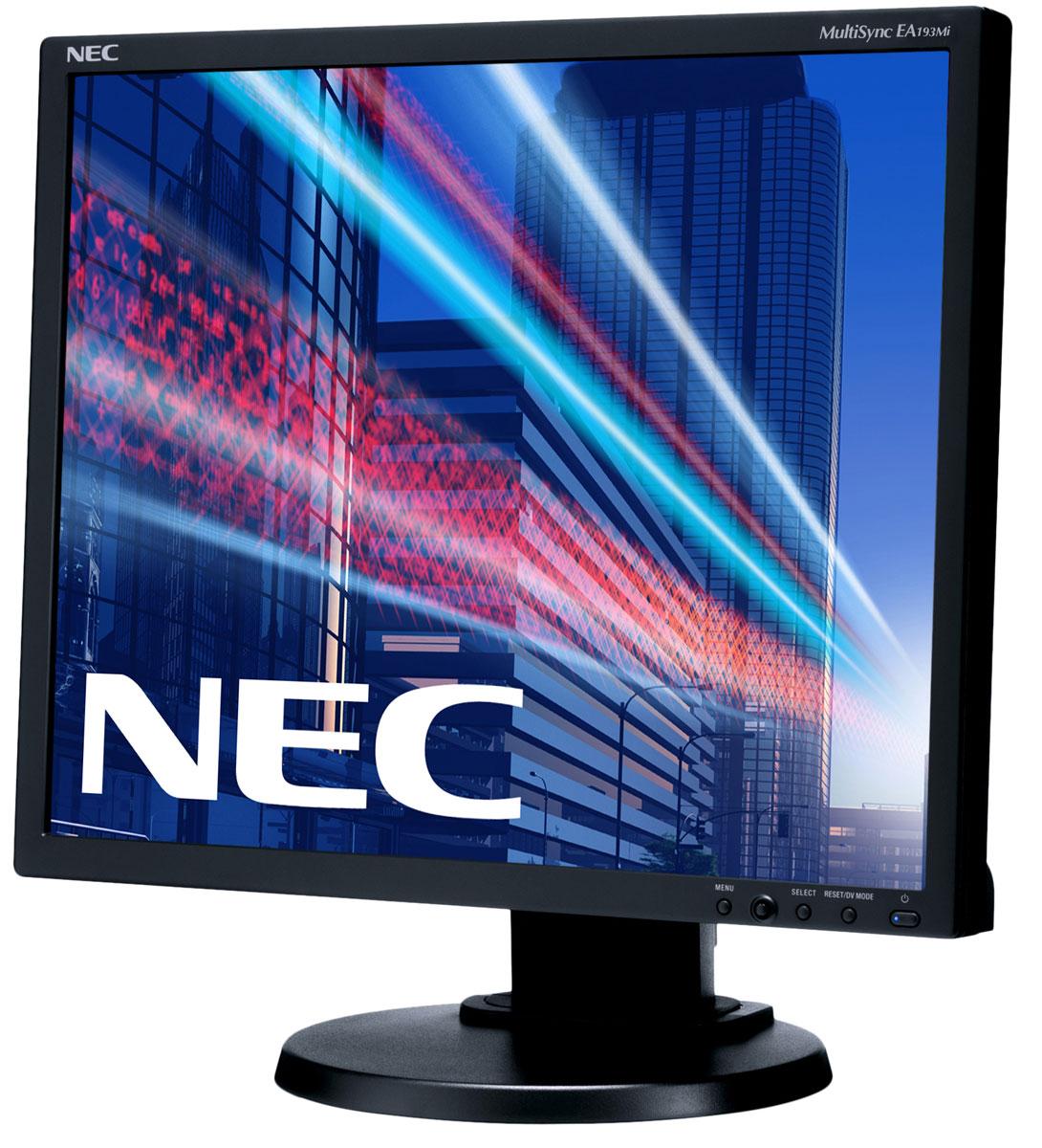 NEC EA193Mi-BK, Black монитор60003586NEC EA193Mi - это профессиональный 19-дюймовый монитор традиционного формата 5:4 с лучшей IPS-панелью и современной энергосберегающей технологией светодиодной подсветки. Он обладает современными возможностями подключения с помощью DisplayPort и отличными эргономическими характеристиками. Благодаря низкому расходу электроэнергии и низким эксплуатационным расходам данный дисплей является идеальной моделью для профессиональной эксплуатации в офисах. Благодаря превосходным эргономическим свойствам и таким важным характеристикам, как датчик внешней освещенности, данный монитор является удобным в обращении и помогает повысить производительность.Датчик рассеянного света – благодаря функции автоматической яркости Auto Brightness всегда можно оптимизировать уровень яркости в зависимости от освещения и условий изображения.Эргономические характеристики – регулировка по высоте (110 мм), функция наклона и плоский режим обеспечивают идеальную возможность индивидуальной эргономичной настройки.Зеленая концепция продукта – режим работы Eco и измеритель углеродного следа / Carbon Savings Meter, датчик рассеянного света.Вход – Работа дисплея обеспечивается благодаря двум цифровым входам (DVI-D, DisplayPort) и одному аналоговому входу.Экологически рациональные характеристики – низкое энергопотребление благодаря светодиодной фоновой подсветке и датчику рассеянного света.Крепление Vesa (100 мм) – позволяет установить монитор в различных положениях, для более удобной установки ножку-подставку можно отсоединить с помощью специального механизма.