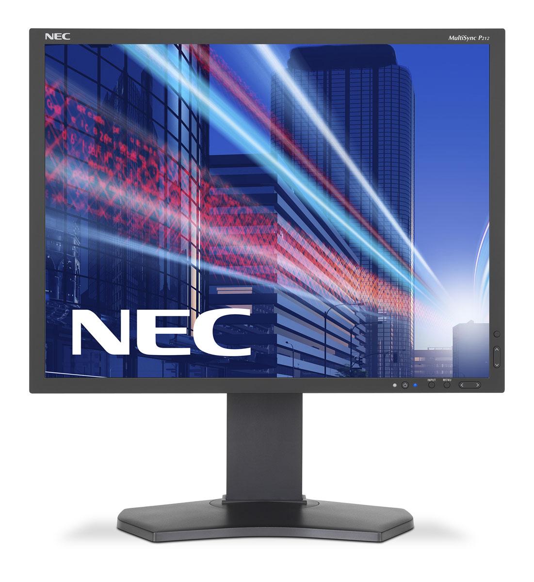 NEC P212-BK, Black монитор60003862Профессиональный настольный дисплей NEC P212 в IPS-исполнении предоставляет бескомпромиссное качество изображения, а также оказывает меньшее воздействие на окружающую среду на протяжении всего срока службы.Великолепное цветовое воспроизведение, лучшие в своем классе эргономические характеристики, встроенный счетчик уровня экономии выбросов углекислого газа, датчик внешнего освещения делают данный дисплей идеальным для творческих профессионалов.Идеальный дисплей для работы с САПР/АПП,для финансовой сферы, для работы в диспетчерских в режиме 24/7 и в области точного машиностроения, а также для промышленных приложений (например, NTD) и для всех тех, кто ценит качество визуальной работы.Бескомпромиссное качество изображения – полное управление цветом благодаря IPS, функции Digital Uniformity Control, 14-битной таблице пересчета цветов с возможностью аппаратной калибровки, исполнению SpectraView Engine и управлению калибровкой SpectraView II.Эргономичный офис – регулировка по высоте (150 мм), возможность поворота, наклона и вращения обеспечивает удобную установку с учетом индивидуальных требований пользователя.