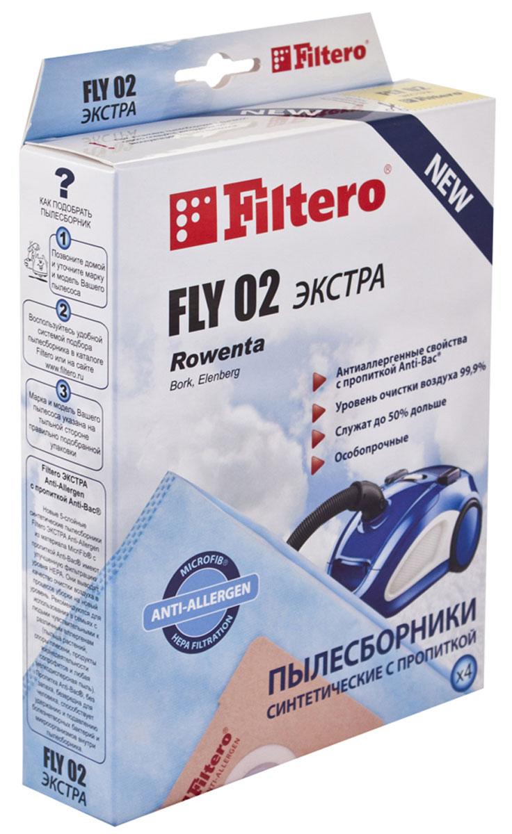 Filtero Fly 02 Экстра комплект пылесборников, 4 штFLY 02 (4) ЭКСТРАFiltero Fly 02 Экстра произведены из синтетического микроволокна MicroFib, пятислойные. Очень прочные, не боятся острых предметов и влаги, собирают больше (до 50%) пыли, чем бумажные. Обеспечивают уровень очистки воздуха НЕРА. Сохраняют мощность всасывания в течение всего периода службы пылесборника. Антибактериальная пропитка Anti-Bac защищает от аллергенов и угнетает размножение бактерий в мешке. Рекомендуются для семей с детьми, людей страдающих аллергией и заболеваниями дыхательных путей.Подходят для следующих моделей пылесосов:ALPINA SF 2202;ATLANTAATH 3250, 3450;BIMATEKV 1001 - V 1004, V 1008, V 1009, V 1011, V 1416,V 2001, V 2115, V 2116, V 5001, V 5003, V 6314;BORKVC 1316, 1416, 1715;CAMERON CVC 1010;CLATRONICBS 1222, 1230;ELEKTAEVC 1450, 1, 2450 Hurricane;ELENBERGVC 2010, 2015, 2020, 2022, 2025;EVGOEVC 2030, 2520, 2550, 2590;HOOVERT 1505, T 1510, T 137P Studio; HYUNDAI H-VC 1081,H-VC 1597;LERANVC 1201;MAXIMAMV-304;MELISSAVCC 11, 12, 14Mirage;POLAR VC 1404 Malva; POLARISPVC 1405, 1406, 1608F;ROLSENLB 2040, T 2142, T 2143;ROWENTARO 1321, 1336 Gimini, RO 1513, 1521 Booly;RUBINR 2432 MS;SAKURASA 8300, 8301;SATURNST 1293 Theseus;SCARLETTSC 080 Felix, 081 Vester, 082 Lambert, 084 Marcus, 085 Jerry, 1082, 285 Neal, 285 Delbert;SHIVAKISVC 1409 Sirokko, 1418, 1420 Boreas,1423 Zephyr,TRONYT 1324, 1438, 1509, 1553, VC 1400;UFESAAC 3514, 3515, AT7407, 7506,Arian Mousy;VITEK VT 1809.
