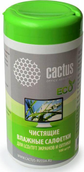 Cactus CS-T1001E салфетки для экранов и оптики, 100 штCS-T1001EСалфетки Cactus CS-T1001E предназначены для повседневного ухода за экранами ноутбуков, мониторов, жидкокристаллических и плазменных телевизоров, а также любых других поверхностей из стекла. Не содержат спирта и растворителей. Экологически безопасен.