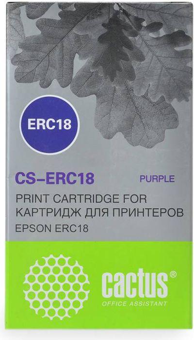 Cactus CS-ERC18, Purple картридж ленточный для Epson ERC 18/ER 4615-RCS-ERC18Картридж ленточный Cactus S-ERC18 для матричных принтеров Epson ERC 18/ER 4615-R.Расходные материалы Cactus для печати максимизируют характеристики принтера. Они обеспечивают повышенную четкость изображения и надежное качество печати.