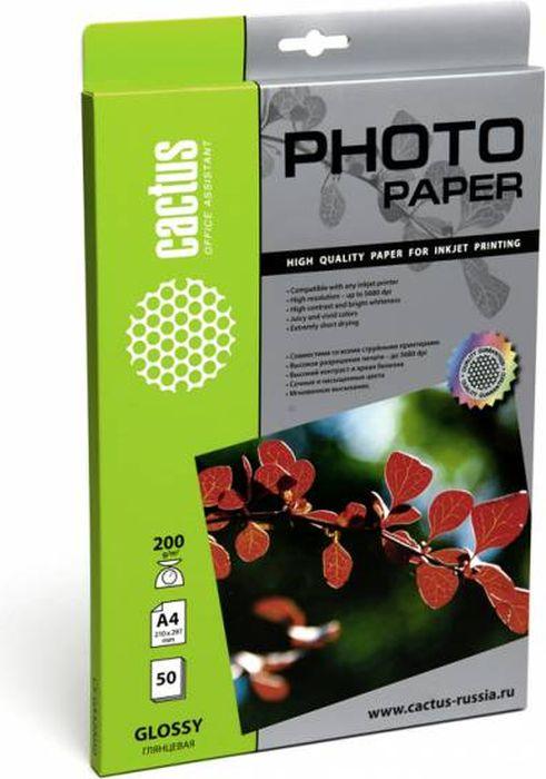 Cactus CS-GA420050 A4/200г/м2 глянцевая фотобумага для струйной печати (50 листов)CS-GA420050Фотобумага Cactus CS-GA420050 с глянцевым покрытием для струйной печати.Наслаждайтесь лучшими мгновениями вашей жизни в сочных и насыщенных цветах. Представляйте яркие и красочные презентации. Создавайте отпечатки высочайшего качества. Фотобумага Cactus совместима со струйными принтерами Hewlett Packard, Canon, Epson и другими марками. Высококлассное покрытие фотобумаги Cactus позволяет добиться максимально точной цветопередачи при печати фотографий и графики.