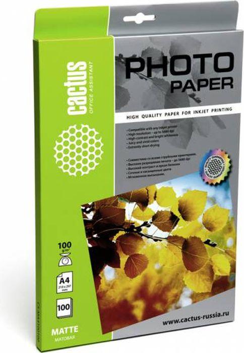 Cactus CS-MA4100100 A4/100г/м2 матовая фотобумага для струйной печати (100 листов)CS-MA4100100Фотобумага Cactus CS-MA4100100 с матовым покрытием для струйной печати.Наслаждайтесь лучшими мгновениями вашей жизни в сочных и насыщенных цветах. Представляйте яркие и красочные презентации. Создавайте отпечатки высочайшего качества. Фотобумага Cactus совместима со струйными принтерами Hewlett Packard, Canon, Epson и другими марками. Высококлассное покрытие фотобумаги Cactus позволяет добиться максимально точной цветопередачи при печати фотографий и графики.