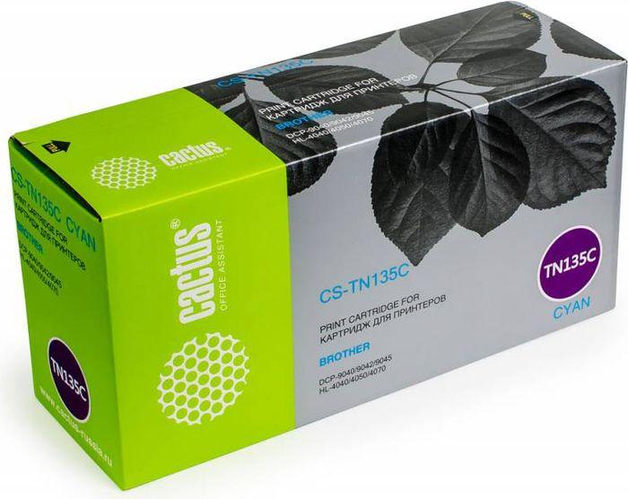 Cactus CS-TN135C, Cyan тонер-картридж для Brother DCP-9040/9042/9045/HL-4040/4050/4070 - Расходные материалы