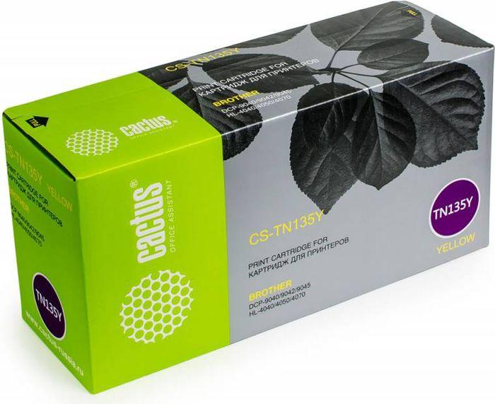 Cactus CS-TN135Y, Yellow тонер-картридж для Brother DCP-9040/9042/9045/HL-4040/4050/4070CS-TN135YТонер-картридж Cactus CS-TN135Y для лазерных принтеров Brother DCP-9040/9042/9045/HL-4040/4050/4070.Расходные материалы Cactus для лазерной печати максимизируют характеристики принтера. Обеспечивают повышенную чёткость чёрного текста и плавность переходов оттенков серого цвета и полутонов, позволяют отображать мельчайшие детали изображения. Гарантируют надежное качество печати.