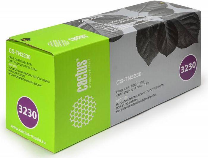 Cactus CS-TN3230, Black тонер-картридж для Brother HL-5340D/5350DN/5370DW/DCP-8070D/8085DNCS-TN3230Тонер-картридж Cactus CS-TN3230 для лазерных принтеров Brother.Расходные материалы Cactus для лазерной печати максимизируют характеристики принтера. Обеспечивают повышенную чёткость чёрного текста и плавность переходов оттенков серого цвета и полутонов, позволяют отображать мельчайшие детали изображения. Гарантируют надежное качество печати.