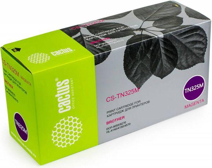 Cactus CS-TN325M, Magenta тонер-картридж для Brother DCP-9055/9270/HL-4140/4150/4570CS-TN325MТонер-картридж Cactus CS-TN325M для лазерных принтеров Brother DC- 9055/9270/HL-4140/4150/4570.Расходные материалы Cactus для лазерной печати максимизируют характеристики принтера. Обеспечивают повышенную чёткость чёрного текста и плавность переходов оттенков серого цвета и полутонов, позволяют отображать мельчайшие детали изображения. Гарантируют надежное качество печати.