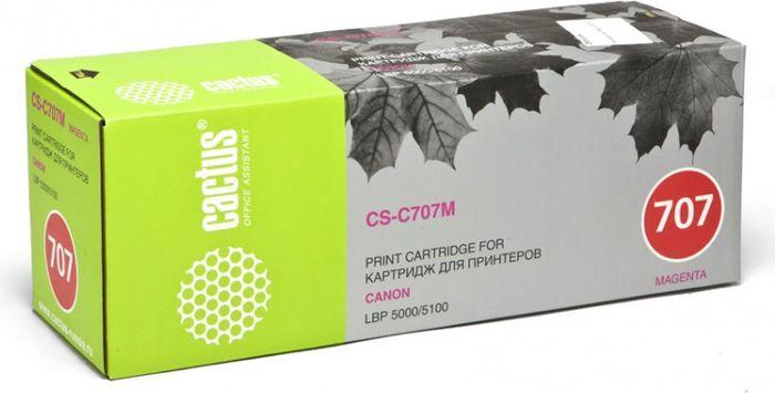 Cactus CS-C707M, Magenta тонер-картридж для Canon LBP i-Sensys 5000/5100CS-C707MТонер-картридж Cactus CS-C707M для лазерных принтеров Canon LBP i-Sensys 5000/5100.Расходные материалы Cactus для лазерной печати максимизируют характеристики принтера. Обеспечивают повышенную чёткость чёрного текста и плавность переходов оттенков серого цвета и полутонов, позволяют отображать мельчайшие детали изображения. Гарантируют надежное качество печати.