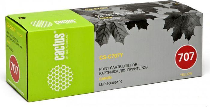 Cactus CS-C707Y, Yellow тонер-картридж для Canon LBP i-Sensys 5000/5100CS-C707YТонер-картридж Cactus CS-C707Y для лазерных принтеров Canon LBP i-Sensys 5000/5100.Расходные материалы Cactus для лазерной печати максимизируют характеристики принтера. Обеспечивают повышенную чёткость чёрного текста и плавность переходов оттенков серого цвета и полутонов, позволяют отображать мельчайшие детали изображения. Гарантируют надежное качество печати.