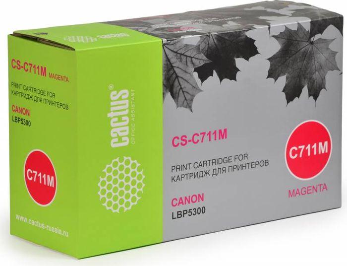 Cactus CS-C711M, Magenta тонер-картридж для Canon LBP5300CS-C711MТонер-картридж Cactus CS-C711M для лазерных принтеров Canon LBP5300.Расходные материалы Cactus для лазерной печати максимизируют характеристики принтера. Обеспечивают повышенную чёткость чёрного текста и плавность переходов оттенков серого цвета и полутонов, позволяют отображать мельчайшие детали изображения. Гарантируют надежное качество печати.