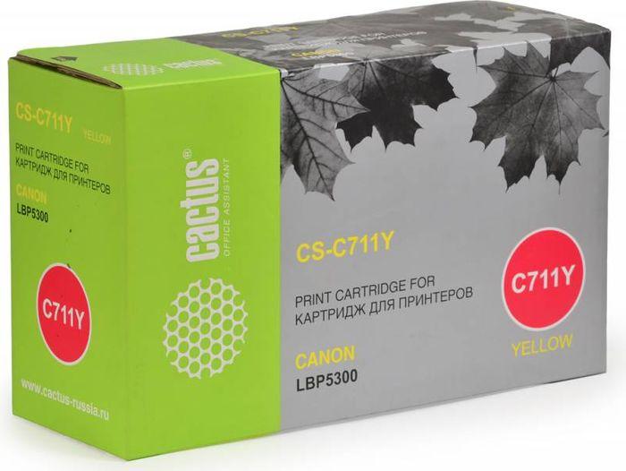 Cactus CS-C711Y, Yellow тонер-картридж для Canon LBP5300CS-C711YТонер-картридж Cactus CS-C711Y для лазерных принтеров Canon LBP5300.Расходные материалы Cactus для лазерной печати максимизируют характеристики принтера. Обеспечивают повышенную чёткость чёрного текста и плавность переходов оттенков серого цвета и полутонов, позволяют отображать мельчайшие детали изображения. Гарантируют надежное качество печати.