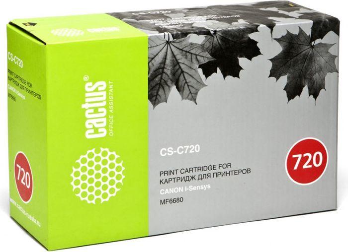 Cactus CS-C720, Black тонер-картридж для Canon i-Sensys MF6680/MF6680dnCS-C720Тонер-картридж Cactus CS-C720 для лазерных принтеров Canon i-Sensys MF6680/MF6680dn.Расходные материалы Cactus для лазерной печати максимизируют характеристики принтера. Обеспечивают повышенную чёткость чёрного текста и плавность переходов оттенков серого цвета и полутонов, позволяют отображать мельчайшие детали изображения. Гарантируют надежное качество печати.