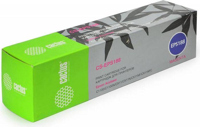 Cactus CS-EPS188, Magenta тонер-картридж для Epson AcuLaser C1100/C1100N/CX11/CX11N/CX11NF/CX11NFCCS-EPS188Тонер-картридж Cactus CS-EPS188 для лазерных принтеров Epson AcuLaser C1100/C1100N/CX11/CX11N/CX11NF/CX11NFC.Расходные материалы Cactus для лазерной печати максимизируют характеристики принтера. Обеспечивают повышенную чёткость чёрного текста и плавность переходов оттенков серого цвета и полутонов, позволяют отображать мельчайшие детали изображения. Гарантируют надежное качество печати.