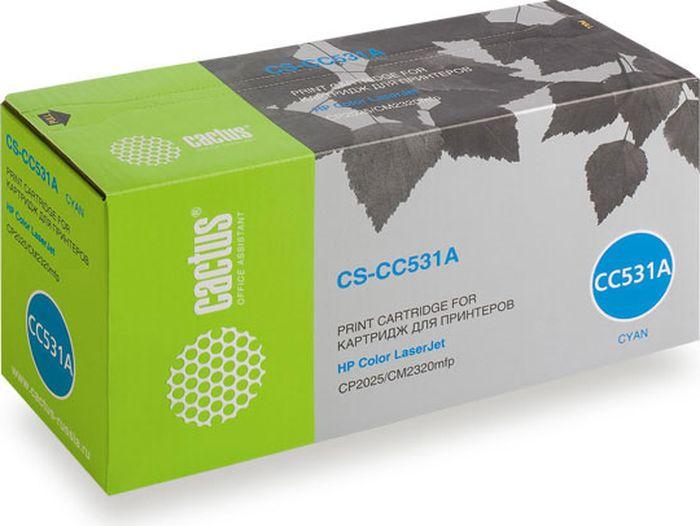 Cactus CS-CC531A, Cyan тонер-картридж для HP CLJ CP2025/CM2320CS-CC531AТонер-картридж Cactus CS-CC531A для лазерных принтеров HP CLJ CP2025/CM2320.Расходные материалы Cactus для лазерной печати максимизируют характеристики принтера. Обеспечивают повышенную чёткость чёрного текста и плавность переходов оттенков серого цвета и полутонов, позволяют отображать мельчайшие детали изображения. Гарантируют надежное качество печати.