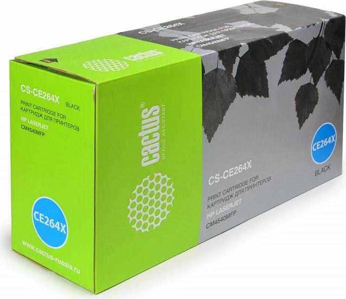 Cactus CS-CE264X, Black тонер-картридж для HP CLJ CM4540CS-CE264XТонер-картридж Cactus CS-CE264X для лазерных принтеров HP CLJ CM4540.Расходные материалы Cactus для лазерной печати максимизируют характеристики принтера. Обеспечивают повышенную чёткость чёрного текста и плавность переходов оттенков серого цвета и полутонов, позволяют отображать мельчайшие детали изображения. Гарантируют надежное качество печати.
