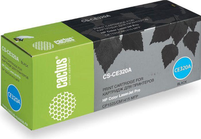 Cactus CS-CE320A, Black тонер-картридж для HP LJ CP1525