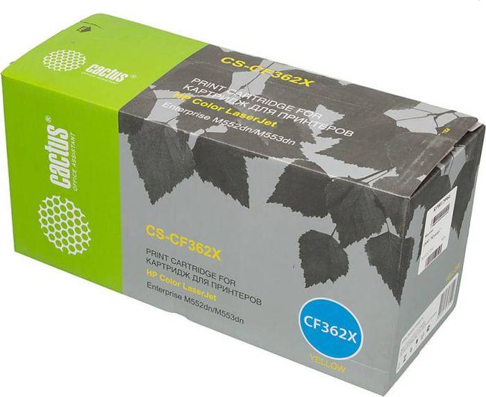 Cactus CS-CF362X, Yellow тонер-картридж для HP CLJ M552dn/M553dnCS-CF362XТонер-картридж Cactus CS-CF362X для лазерных принтеров HP CLJ M552dn/M553dn.Расходные материалы Cactus для лазерной печати максимизируют характеристики принтера. Обеспечивают повышенную чёткость чёрного текста и плавность переходов оттенков серого цвета и полутонов, позволяют отображать мельчайшие детали изображения. Гарантируют надежное качество печати.