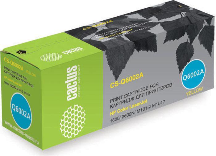 Cactus CS-Q6002A, Yellow тонер-картридж для HP Color LaserJet 1600/2600N/M1015/M1017CS-Q6002AТонер-картридж Cactus CS-Q6002A для лазерных принтеров HP Color LaserJet 1600/2600N/M1015/M1017.br>Расходные материалы Cactus для лазерной печати максимизируют характеристики принтера. Они обеспечивают повышенную чёткость чёрного текста и плавность переходов оттенков серого цвета и полутонов, позволяют отображать мельчайшие детали изображения. Гарантируют надежное качество печати.