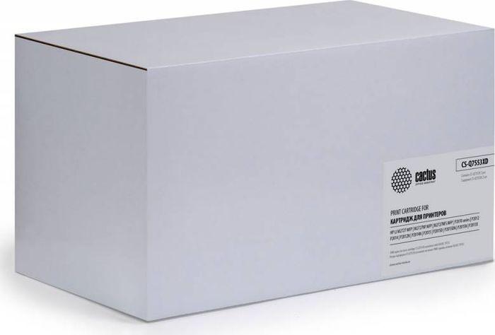 Cactus CS-Q7553XD, Black тонер-картридж для HP P2014/P2015/M2727CS-Q7553XDТонер-картридж Cactus CS-Q7553XD для лазерных принтеров HP P2014/P2015/M2727.Расходные материалы Cactus для лазерной печати максимизируют характеристики принтера. Обеспечивают повышенную чёткость чёрного текста и плавность переходов оттенков серого цвета и полутонов, позволяют отображать мельчайшие детали изображения. Гарантируют надежное качество печати. В комплект входит 2 тонер-картриджа.