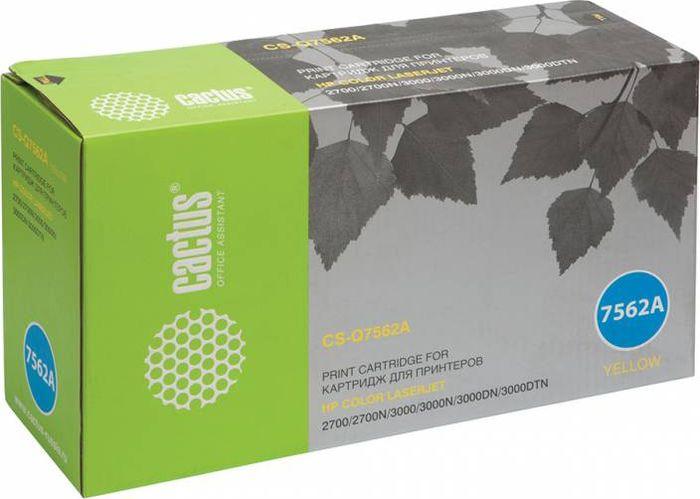 Cactus CS-Q7562A, Yellow тонер-картридж для HP LJ 2700/3000CS-Q7562AТонер-картридж Cactus CS-Q7562A для лазерных принтеров HP LJ 2700/3000.Расходные материалы Cactus для лазерной печати максимизируют характеристики принтера. Обеспечивают повышенную чёткость чёрного текста и плавность переходов оттенков серого цвета и полутонов, позволяют отображать мельчайшие детали изображения. Гарантируют надежное качество печати.