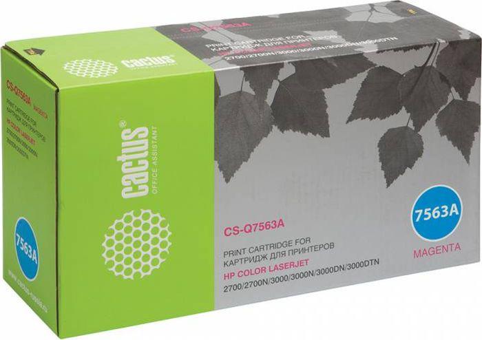 Cactus CS-Q7563A, Magenta тонер-картридж для HP LJ 2700/3000 картридж cactus cs ce313a purple для hp lj cp1012pro cp1025