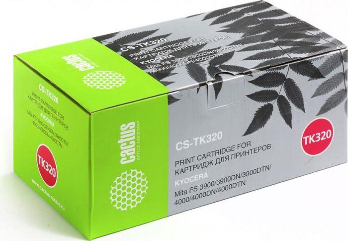 Cactus CS-TK320, Black тонер-картридж для Kyocera Mita FS 3900/3900DN/3900DTN/4000/4000DN/4000DTNCS-TK320Тонер-картридж Cactus CS-TK320 для лазерных принтеров Kyocera Mita FS 3900/3900DN/3900DTN/4000/4000DN/4000DTN.Расходные материалы Cactus для лазерной печати максимизируют характеристики принтера. Обеспечивают повышенную чёткость чёрного текста и плавность переходов оттенков серого цвета и полутонов, позволяют отображать мельчайшие детали изображения. Гарантируют надежное качество печати.