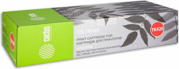 Cactus CS-TK420, Black тонер-картридж для Kyocera KM 1620/1635/1650/2020/2035/2050/2550/TASKalfa 180/181/220/221CS-TK420Тонер-картридж Cactus CS-TK420 для лазерных принтеров Kyocera KM 1620/1635/1650/2020/2035/2050/2550/TASKalfa 180/181/220/221.Расходные материалы Cactus для лазерной печати максимизируют характеристики принтера. Обеспечивают повышенную чёткость чёрного текста и плавность переходов оттенков серого цвета и полутонов, позволяют отображать мельчайшие детали изображения. Гарантируют надежное качество печати.