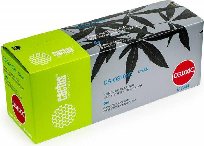 Cactus CS-O3100C, Cyan тонер-картридж для Oki C3100/C3200/C5100/C5150/C5200/C5300/C5400CS-O3100CТонер-картридж Cactus CS-O3100C для лазерных принтеров Oki C3100/C3200/C5100/C5150/C5200/C5300/C5400.Расходные материалы Cactus для лазерной печати максимизируют характеристики принтера. Обеспечивают повышенную чёткость чёрного текста и плавность переходов оттенков серого цвета и полутонов, позволяют отображать мельчайшие детали изображения. Гарантируют надежное качество печати.