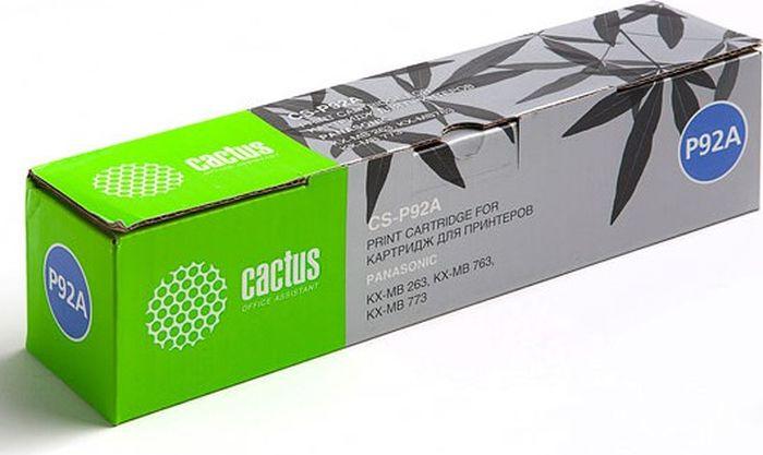 Cactus CS-P92A, Black тонер-картридж для Panasonic KX-MB263/KX-MB763/KX-MB773CS-P92AТонер-картридж Cactus CS-P92A для лазерных принтеров Panasonic KX-MB263/KX-MB763/KX-MB773.Расходные материалы Cactus для лазерной печати максимизируют характеристики принтера. Обеспечивают повышенную чёткость чёрного текста и плавность переходов оттенков серого цвета и полутонов, позволяют отображать мельчайшие детали изображения. Гарантируют надежное качество печати.