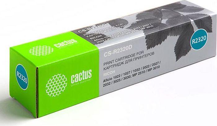 Cactus CS-R2320D, Black тонер-картридж для Ricoh Aficio 1022/1027/1032/2022/2027/2032/3025/3030/MP 2510/3010CS-R2320DТонер-картридж Cactus CS-R2320D для лазерных принтеров Ricoh Aficio 1022/1027/1032/2022/2027/2032/3025/3030/MP 2510/3010.Расходные материалы Cactus для лазерной печати максимизируют характеристики принтера. Обеспечивают повышенную чёткость чёрного текста и плавность переходов оттенков серого цвета и полутонов, позволяют отображать мельчайшие детали изображения. Гарантируют надежное качество печати.