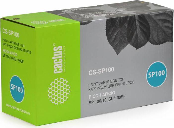 Cactus CS-SP100, Black тонер-картридж для Ricoh SP100/100SU/100SFCS-SP100Картридж Cactus CS-SP100 для лазерных принтеров Ricoh SP100, 100SU, 100SF.Расходные материалы CACTUS для монохромной лазерной печати максимизируют характеристики принтера. Обеспечивают повышенную чёткость чёрного текста и плавность переходов оттенков серого цвета и полутонов, позволяют отображать мельчайшие детали изображения. Обеспечивают надежное качество печати.