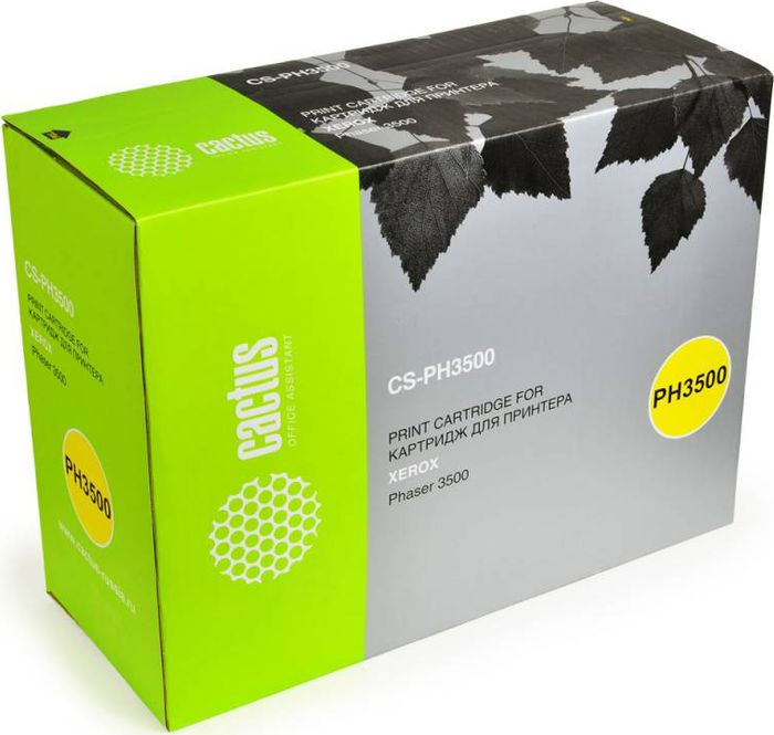 Cactus CS-PH3500 106R01149, Black тонер-картридж для Xerox Phaser 3500/3500bCS-PH3500Тонер-картридж Cactus CS-PH3500 106R01149 для лазерных принтеров Xerox Phaser 3500/3500b.Расходные материалы Cactus для лазерной печати максимизируют характеристики принтера. Обеспечивают повышенную чёткость чёрного текста и плавность переходов оттенков серого цвета и полутонов, позволяют отображать мельчайшие детали изображения. Гарантируют надежное качество печати.