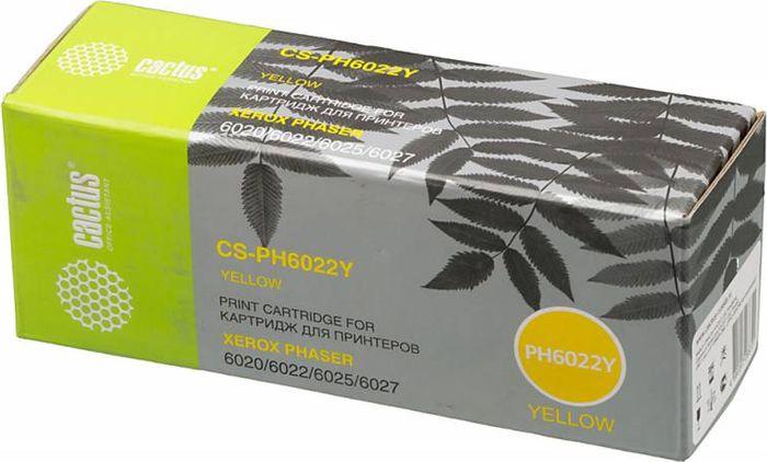 Cactus CS-PH6022Y 106R02762, Yellow тонер-картридж для Xerox Phaser 6020/6022/WC 6025/6027CS-PH6022YКартридж Cactus CS-PH6022Y 106R02762 для лазерных принтеров Xerox Phaser.Расходные материалы Cactus для печати максимизируют характеристики принтера. Обеспечивают повышенную четкость изображения и плавность переходов оттенков и полутонов, позволяют отображать мельчайшие детали изображения. Обеспечивают надежное качество печати.
