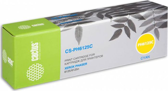 Cactus CS-PH6125C 106R01335, Cyan тонер-картридж для Xerox Phaser 6125CS-PH6125CТонер-картридж Cactus CS-PH6125C 106R01335 для лазерных принтеров Xerox Phaser 6125.Расходные материалы Cactus для лазерной печати максимизируют характеристики принтера. Обеспечивают повышенную чёткость чёрного текста и плавность переходов оттенков серого цвета и полутонов, позволяют отображать мельчайшие детали изображения. Гарантируют надежное качество печати.