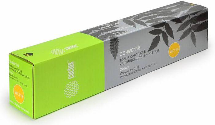 Cactus CS-WC118 006R01179, Black тонер-картридж для Xerox WorkCentre C118/M118CS-WC118Тонер-картридж Cactus CS-WC118 006R01179 для лазерных принтеров Xerox WorkCentre C118/M118.Расходные материалы Cactus для лазерной печати максимизируют характеристики принтера. Обеспечивают повышенную чёткость чёрного текста и плавность переходов оттенков серого цвета и полутонов, позволяют отображать мельчайшие детали изображения. Гарантируют надежное качество печати.