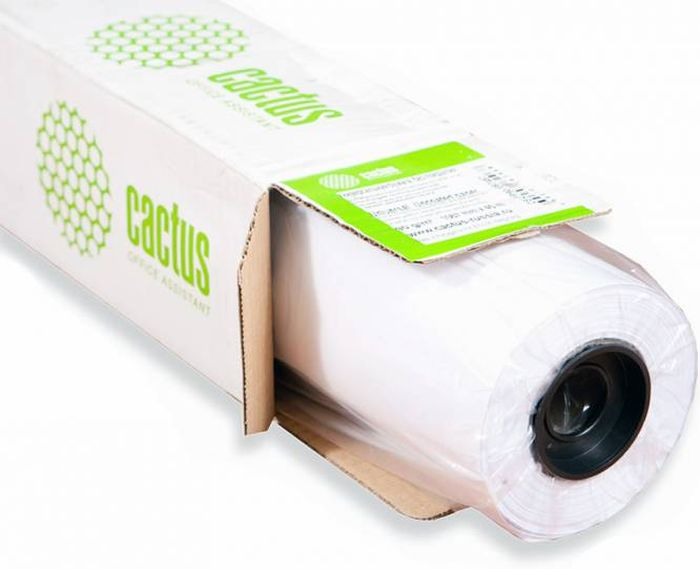 Cactus CS-PC140-106730 42(A0+)/1067мм/140г/м2 бумага для широкоформатной печати (30 м)CS-PC140-106730Универсальная бумага с покрытием Cactus CS-PC140-106730 для широкоформатной печати.Ширина рулона: 1067 ммДлина рулона: 30 мВтулка: 50,8 мм (2)