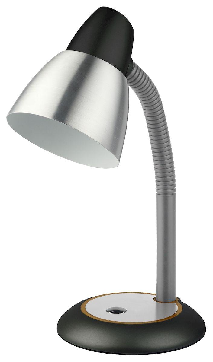 Настольный светильник ЭРА N-115-E27-40W-BK, цвет: черныйN-115-E27-40W-BKУстойчивое металлическое основание.Металлический плафон большого диаметра для комфортного рассеивания света.Выключатель на основании светильника.Направление света регулируется гибкой стойкой, которая обеспечивает наклон и поворот плафона в любом направлении.Классический дизайн.
