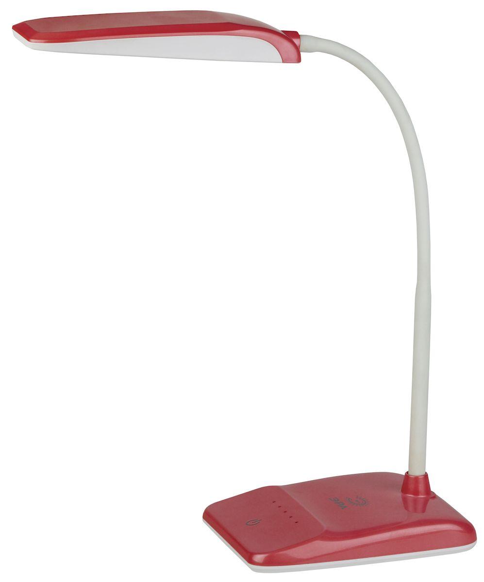 Настольный светильник ЭРА NLED-447-9W-R, цвет: красныйNLED-447-9W-RСветильник со светодиодами (LED) в качестве источников света, которые экономят до 90% электроэнергии и не требуют замены на протяжении всего срока службы светильника.Сенсорный переключатель на основании.Четырехступенчатый диммер для регулировки яркости.Высота плафона регулируется гибкой стойкой, направление света регулируется поворотом плафона в любом направлении.Теплый свет, аналогичный свету лампы накаливания - цветовая температура 3000К.