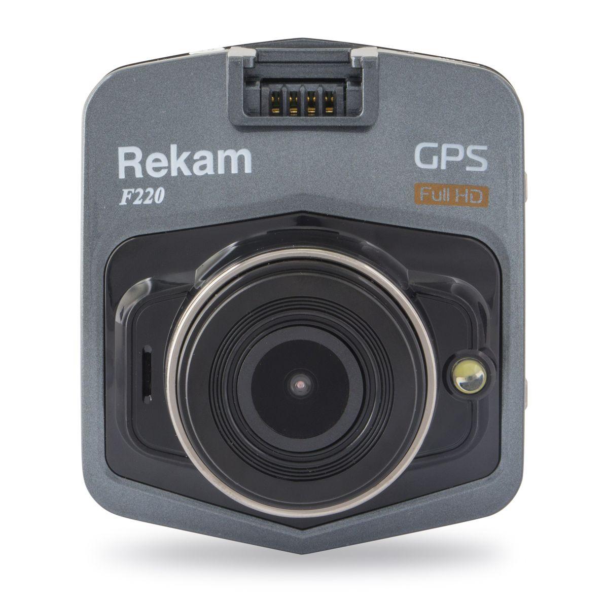 Rekam F220, Black автомобильный видеорегистратор rekam dvc 540 black цифровая видеокамера
