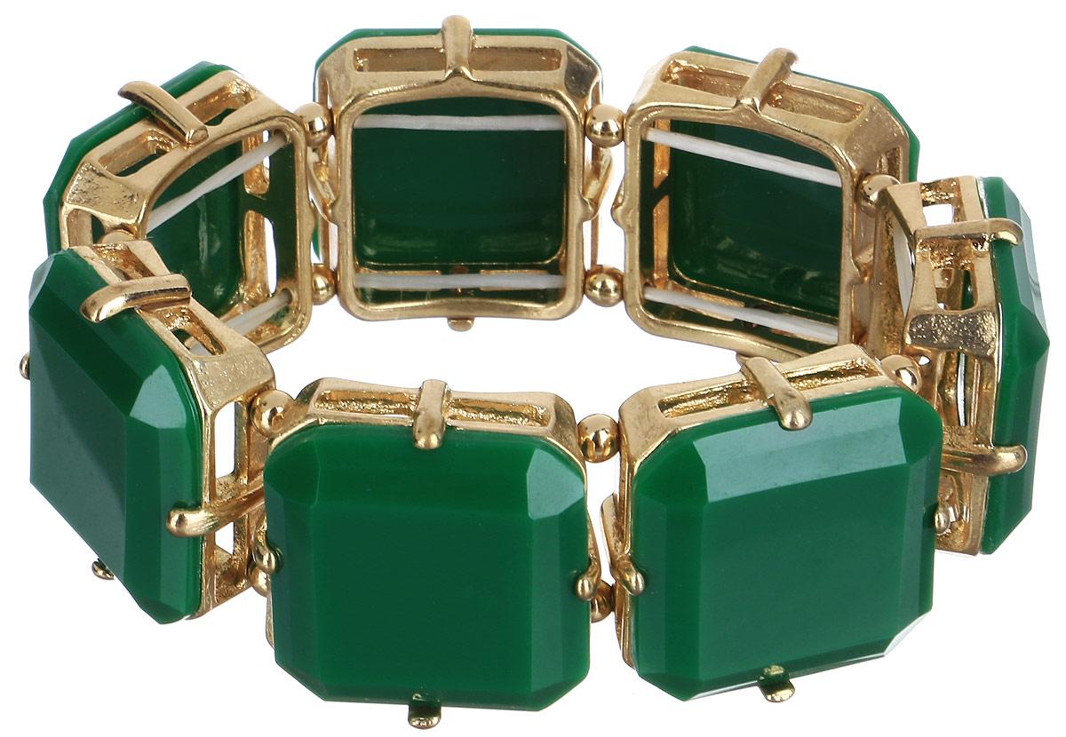 Браслет женский Taya, цвет: зеленый. T-B-6276-BRAC-GL.EMERALDБраслет для шармовБраслет Taya выполнен из бижутерного сплава и пластика ярких цветов. Объемная фактура элементов на резинке делает женское запястье нежным и хрупким. Красивое и необычное украшение блестяще подчеркнет изысканный вкус, женственность и красоту своей обладательницы и поможет внести разнообразие в привычный образ.