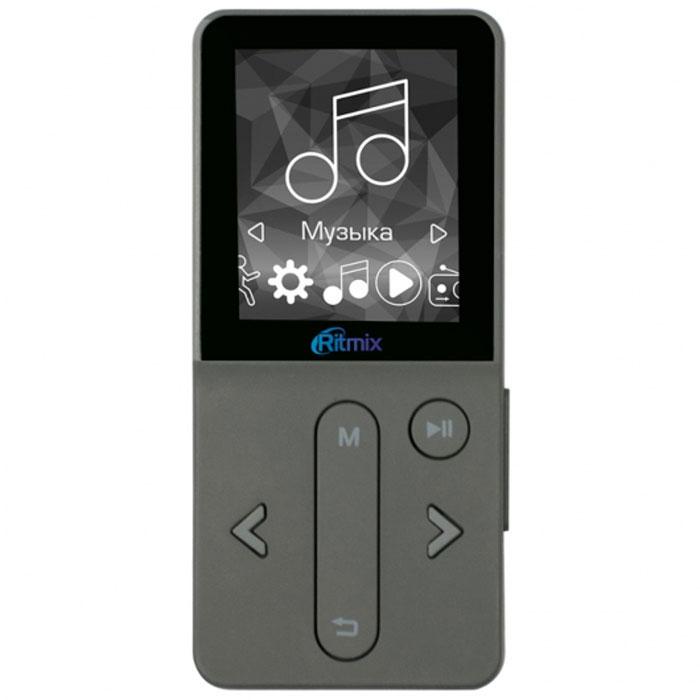 Ritmix RF-4910 4Gb, Dark Gray MP3-плеер15118374Ritmix RF-4910 – это спортивный музыкальный плеер с поддержкой мультимедиа и большим набором функций. Гаджет станет подходящим спутником для активных людей.Плеер отличается удобным управлением и понятным интерфейсом. Если вы слушаете RF-4910 на пробежке или прогулке, вам пригодится функция блокировки кнопок. Плеер можно поместить за пояс или ремень – нижняя часть устройства более узкая, чем верхняя, за счёт чего оно будет иметь дополнительное зацепление.Выберите гаджет на свой вкус. Ritmix RF-4910 представлен в трёх цветовых вариантах: тёмно-сером, золотом и розовом. Корпус плеера довольно компактный, а его максимальная толщина составляет всего 9 мм.Ritmix RF-4910 оснащён востребованными на сегодняшний день спортивными функциями - шагомером и счётчиком потраченных калорий. Теперь вы сможете не только наслаждаться любимой музыкой, но и фиксировать свои спортивные достижения!Радио: FM 87 - 108 МГц, 30 фиксированных настроекЭквалайзер: Стандартный, Рок, Поп, Классика, Мягкое звучание, Джаз, БасСистемные требования: Windows 98SE / ME / 2000 / XP / Vista / 7 / 8 / 10