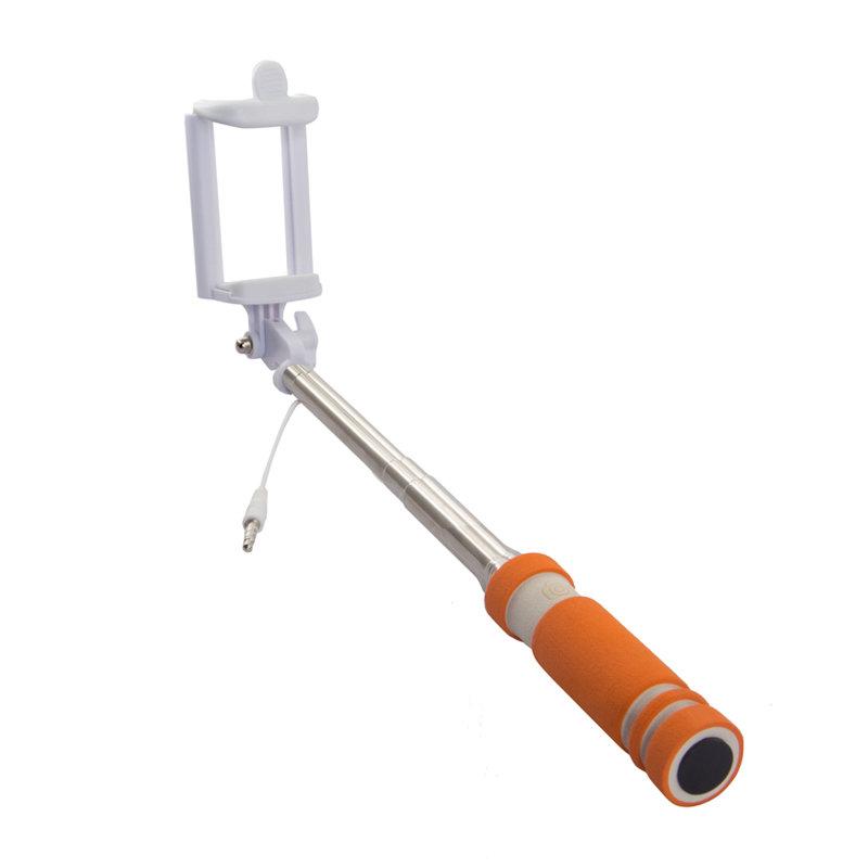 Rekam SelfiPod S-350R, Orange монопод для селфи2303000353Теперь, снимая селфи, вы можете использовать все преимущества вашей камеры и создавать по-настоящему качественные автопортреты с высоким разрешением с помощью монопода Rekam SelfiPod S-350. Он будет незаменим во время прогулок и массовых мероприятий. Для управления имеется удобно расположенная кнопка на рукоятке. Подключается к смартфону через разъем 3,5 мм. В сложенном виде SelfiPod S-350 очень компактен и легко умещается в небольшой сумке и даже кармане. Ручка монопода имеет современный, эргономичный дизайн и выполнена из нескользящего материала.